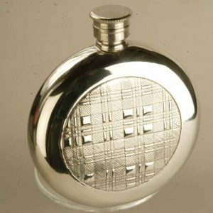 Heathergems - FL30 Polished Pewter Celtic Knot Flask
