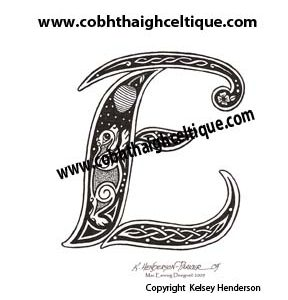 """E"" Celtic Bear - Zoomorphic Alphabet"