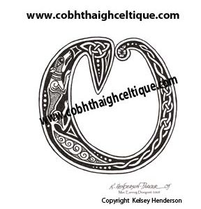 """O"" Celtic Fox - Zoomorphic Alphabet"